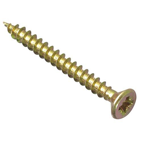 Forgefix MPS440Y - Tornillo para madera (tamaño: 4.0 x 40mm)