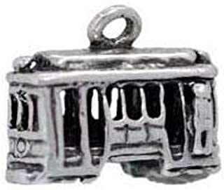 Sterling Silver 3D Cable Car Charm San Francisco Travel Pendant Bracelet Jewelry - Charm Crazy