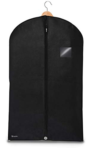 Bruce. ® Premium Kleidersack | 100 x 60 cm | Hochwertige Kleiderhülle für Anzug, Jacke und Kleid | Atmungsaktive Anzugtasche für Reisen und Aufbewahrung
