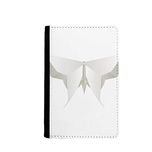 beatChong Origami Blanco Patrón Abstracto Mariposa Bolso De Viaje con Pasaporte Tarjeta De La Caja Cubierta De La Carpeta