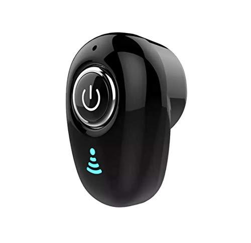 Mini auricular Bluetooth 4.1 + EDR con micrófono inalámbrico con un diseño invisible para smartphone, móvil, PC, coche, tableta, iPhone, Samsung, Xiaomi, Huawei, Sony
