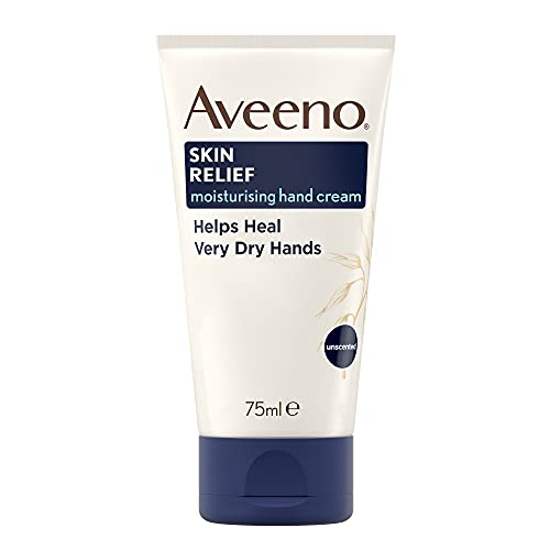 Aveeno Skin Relief Moisturising Hand Cream, Soothes and Moisturises Very Dry Hands, For Very Dry Irritable Hands, 75ml