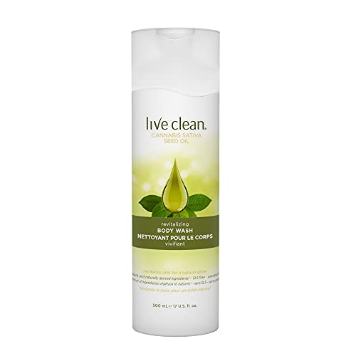 Live Clean Cannabis Sativa Seed Oil Body Wash, 1 Count