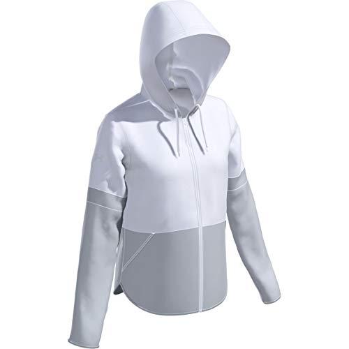 Under Armour Damen Squad 2.0 wasserabweisende gewebte Jacke (weiß, XL)
