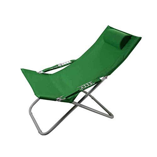 Silla Plegable de Ocio, Silla para Almuerzo, Silla de Playa, sillón reclinable, Tumbona, sillón portátil