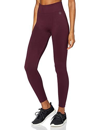 Marca Amazon - AURIQUE Mallas para Correr sin Costuras Mujer, Rojo (Port), 38, Label:S