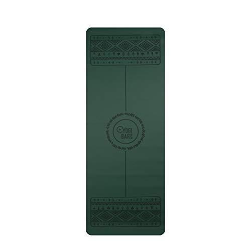 Yogi Bare Paws - Tappetino da Yoga Antiscivolo ed Ecologico in Gomma Naturale (Verde 4mm)