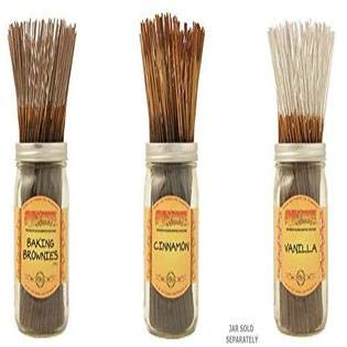 Wildberry Incense Sticks Set of 3 Scents - Baking Brownies, Cinnamon, Vanilla (Pack of 100 Each, Total 300 Sticks)