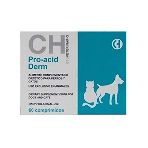Chemical Pro Acid Derm para la caída de Pelo en Perros y Gatos - 60 Comprimidos