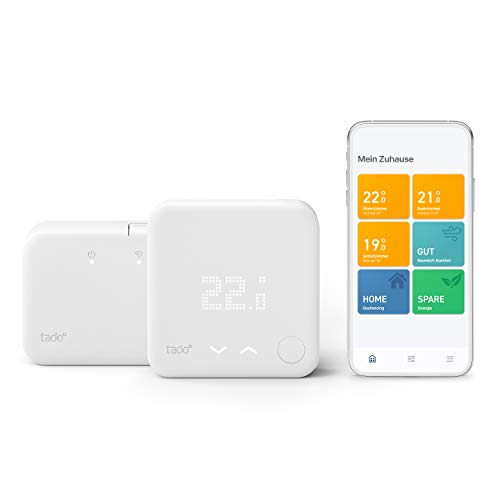 tado° Smartes Thermostat (Funk) Starter Kit V3+ - Intelligente Heizungssteuerung, Designed in Germany, kompatibel mit Alexa, Siri und Google Assistant