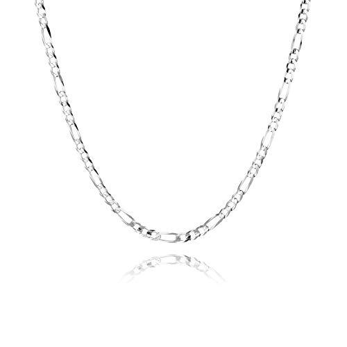 STERLL Herren Halskette Echt Silber 60cm, Ohne Anhänger Geschenkverpackung Partner Geschenke