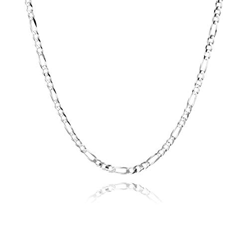 STERL, collana da l'acciaio chirurgico e l'acciaio inox possono contenere nichel.uomo, in argento 925, ideale come idea regalo per mariti o amici, con cofanetto portagioie e argento, colore: 50 cm, cod. S160141
