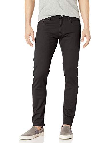 WT02 Men's Basic Color Twill Stretch Span Pants, Black(New), 30X32