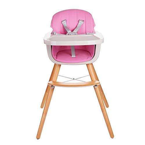 Liuxiaomiao Baby kinderstoel 3 In 1 converteerbare moderne kinderstoel houten hoge stoel oplossing met kussen, verstelbare voeding hoge stoel voor peuter/baby/baby voor eettafel