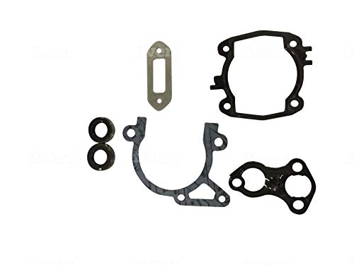 ENGINERUN Exhaust Cylinder Gasket Set with Oil Seal Compatible with Stihl TS410 TS420 Cut-Off Saw Stens 480-765 Replaces 4238-007-1003 TS 410 420 42380071003 6 Pcs