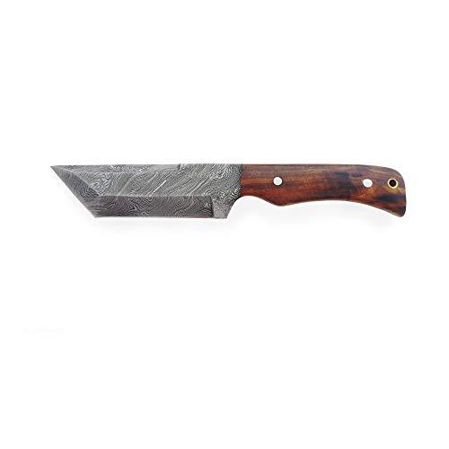 Abanak T105 Cuchillo de Caza Artesanal, 23.3cm, 13 Hoja x 10.3 Mango