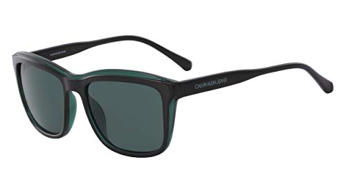 CALVIN KLEIN JEANS EYEWEAR Womens CKJ18504S Sunglasses, Black, 5618