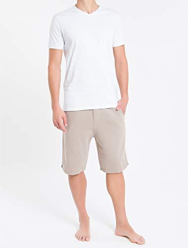 Kit com 2 Camisetas, Calvin Klein, Masculino, Branco, M