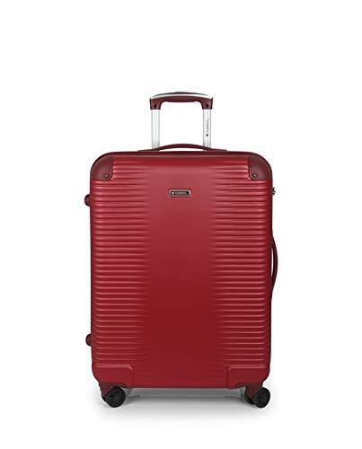 Gabol - Balance | Maletas de Viaje Medianas Rigidas de 47 x 66 x 25 cm con Capacidad para 55 L de Color Rojo