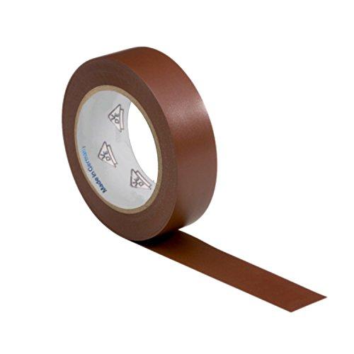 AUPROTEC 1 Rolle VDE Isolierband Isoband Elektriker Klebeband PVC 15mm x 10m DIN EN 60454-3-1 Farbe: braun