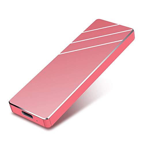 qitian Hard Disk 1 TB Esterno, Hard Disk Esterno USB3.1 Type-C per PC, Xbox, Desktop, Laptop (1TB,Rosso)