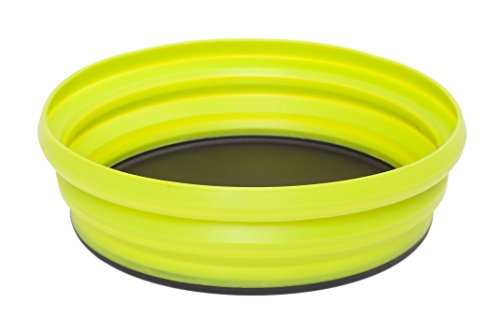 Sea to Summit Unisex X Collapsible Dishware Plate, Lime, XL