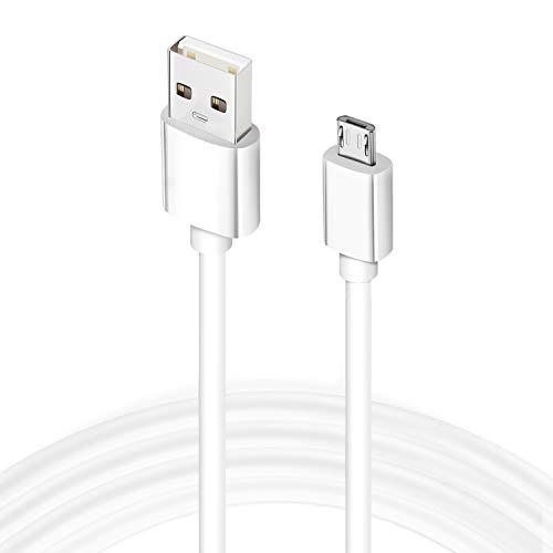 Mancro Cable Micro USB, 4,5M Cable de Cargador Rápido Android Cable de Carga de Sincronización de Datos USB de Alta Velocidad Compatible para Samsung Galaxy S6/S7/S5, HTC, Sony, LG, Nexus, PS4