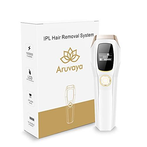 ARUVAYA® [PREMIUM] - IPL HAARENTFERNUNGSGERÄT - für dauerhaft schmerzlose Haarentfernung, für Körper und Gesicht, Präzisionsaufsatz für empfindlichere Bereiche, 1.000.000 Blitze