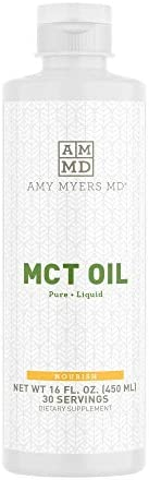 Pure MCT Oil Liquid by Dr Amy Myers Ultra Pure C8 Caprylic Acid and C10 from Coconut Oil Helps product image
