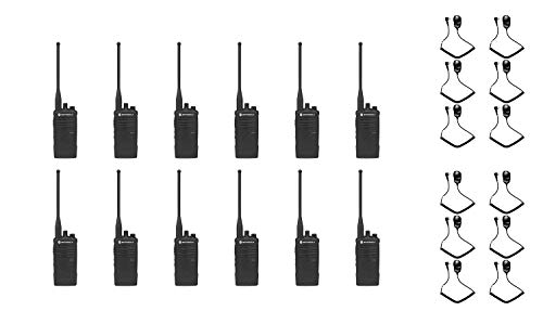 Lowest Price! Motorola RDU4100 UHF 4 Watt 10 Channel Radio with PMMN4008 Speaker Microphone (12 Pack...