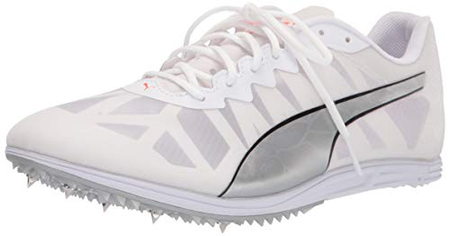 PUMA Evospeed Distance 9, Zapatillas de Atletismo Hombre, White Silverlava Blast, 47 EU