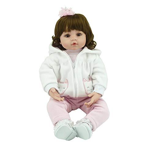 LIUCY 55cm Siliconen Bebe Vinyl Baby Herboren Peuter Meisje Poppen Schattig Chucky Handgemaakte Kinderen Prinses Speelgoed Kinderspeelgoed