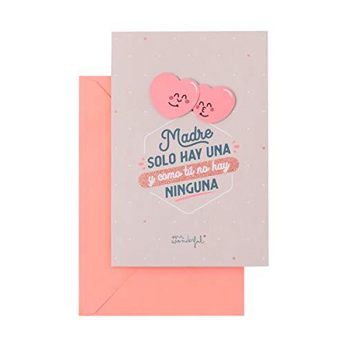 Mr. Wonderful Postal para mamá - Madre solo hay una y como tú no hay ninguna