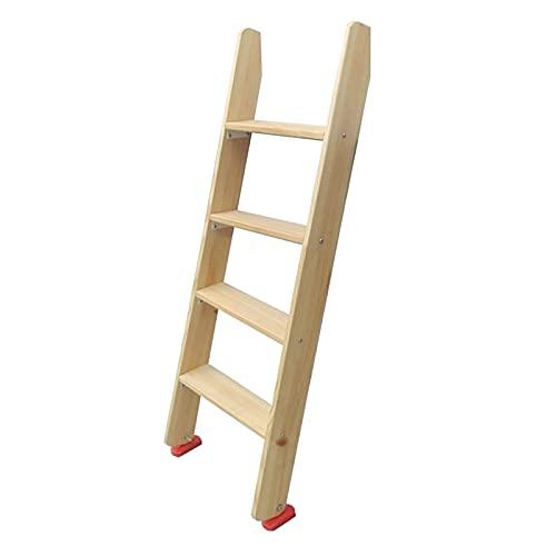 Escaleras Plegables Madera Escalera Vertical para Literas Ahorro de Espacio, Antideslizante Escaleras de Cama para Dormitorios de Niños/Dormitorio/Cabañas/RV, Soporte 150kg (Size : 125cm(49 in))