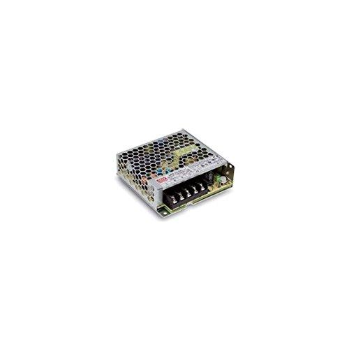 MEANWELL DRI.6293 Transformateur 24VDC IP 20 75W - Déco LRS-75-24, Plastique,et Autre materiaux, 75 W, Blanc, Hauteur x Largeur x Profondeur : 30 mm x 97 mm x 99 mm