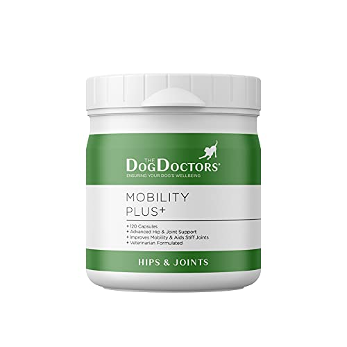 The Dog Doctors Mobility Plus Hips And Joints Aid Supplements With Glucosamine And Chondroitin For Dogs That Are Suitable For All Breeds And Sizes - 120 Capsules - Cruelty Free & Proudly Made in UK!