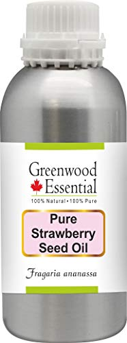 Greenwood Essential Aceite de semilla puro de fresa (Fragaria ananassa) con gotero de vidrio 100% de grado terapéutico natural 1250ml (42.2 oz)