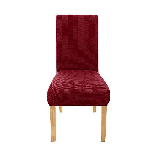 Amazon Brand - Umi 6 PCS Stretch Jacquard Chair Protector Elastic Spandex...