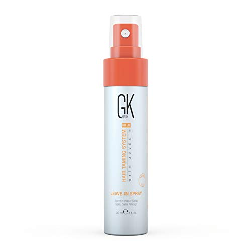 Global Keratin GK HAIR Leave In Conditioner Spray 4 Fl Oz Hair Protection Treatment Strengthens & Shines Frizzy, Dry Damaged Hair - Moisturizing Detangler Spray for Smoothing Nourishes Hydrated Hair