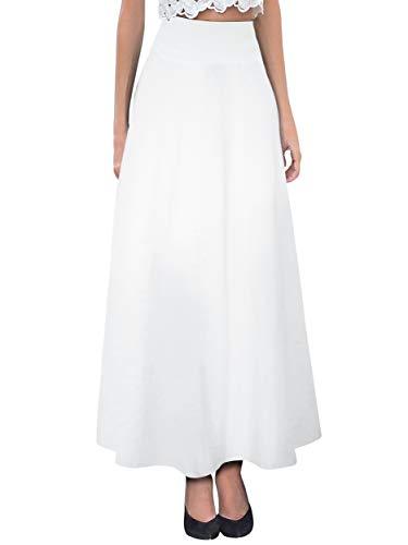 Hybrid & Company Women's Versatile Maxi Skirt/Convertible Dress KSKSD9500 1017 White L