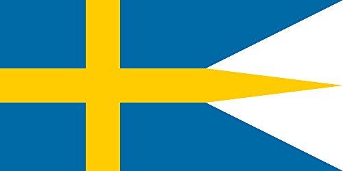magFlags Bandera XL Naval Ensign of Sweden | Bandera Paisaje | 2.16m² | 100x200cm