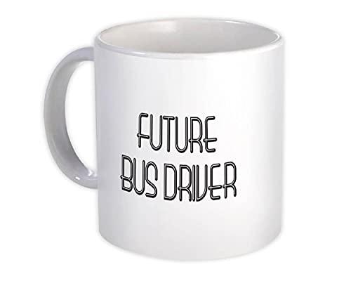Przyszły kierowca autobusu: Kubek prezentowy Zawód Biuro Urodziny Boże Narodzenie współpracownik