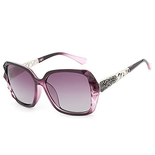 NBJSL Gafas De Sol Polarizadas Para Mujer, Gafas De Sol Con Montura Grande, Gafas De Sol Con Protección Uv Para Mujer (Caja De Embalaje Exquisita)