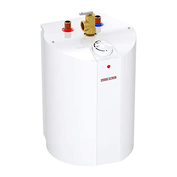 Stiebel Eltron 233219 2.5 gallon, 1300W, 120V SHC 2.5 Mini-Tank Electric Water Heater 1 Plugs into standard 120 volt outlet T and P valve included Wall-mounted with included bracket