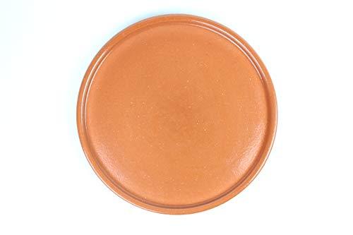 Plato de barro refractario. Uso para cocina de gas, eléctrico, horno, vitro, micro, fuego directo . Made in Spain. (28CM)