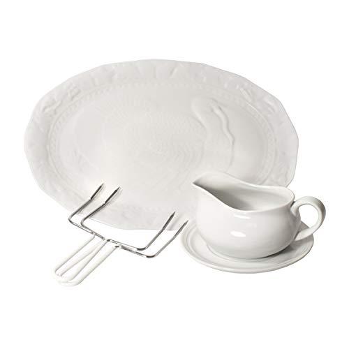 Harold Import Co 3 Piece Thanksgiving Turkey Serving Bundle
