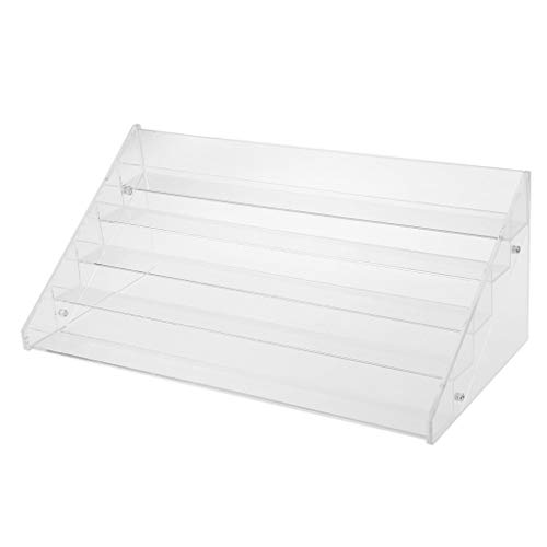 Backbayia Acryl Klar 5 Etagen Nagellackständer Nagellack Aufbewahrungsbox Organiser - 41 x 20 x 16 cm