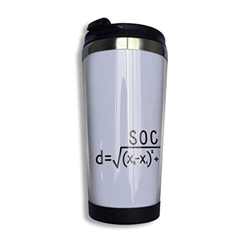 Social Distance Formula Small Repeated Custom Travel Mug Stainless Steel Coffee Tumbler Double Wall Vacuum Insulated Travel Tumbler For Christmas Birthday Home Office