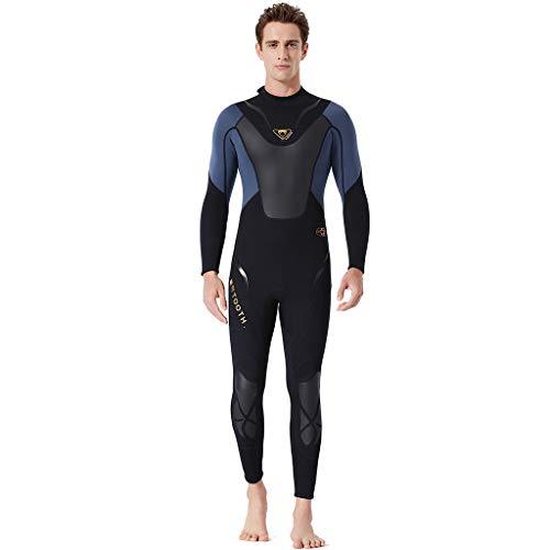 FRAUIT wetsuit voor heren, eendelig, warm zwemmen, surfen, snorkelen, duikpak, 5 mm, heren duikpak met aangezette kap