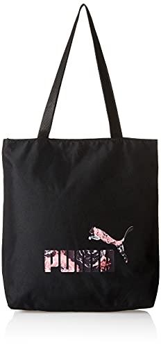 PUMA Damen Floral Logo Shopper, Puma Black, One Size